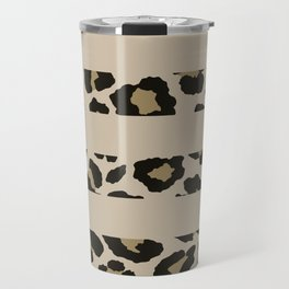Leopard brown and black horizontal stripes pattern Travel Mug