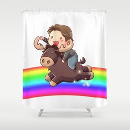 Gabe and Moose Shower Curtain