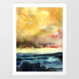 Yellow Sky Art Print