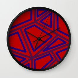 In Town - Red Wall Clock