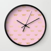 bisexual Wall Clocks featuring Princess pattern by Better HOME