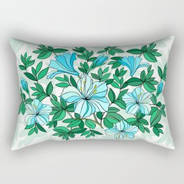 Abstract flowers with background Rectangular Pillow