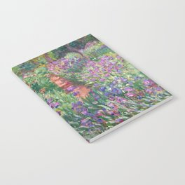 The Iris Garden at Giverny by Claude Monet Notebook