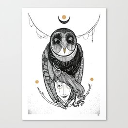 bird women Canvas Print