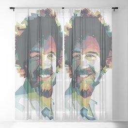 Bob Ross Sheer Curtain
