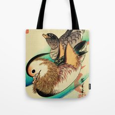 Mandarin Ducks - Vintage Japanese Art Tote Bag