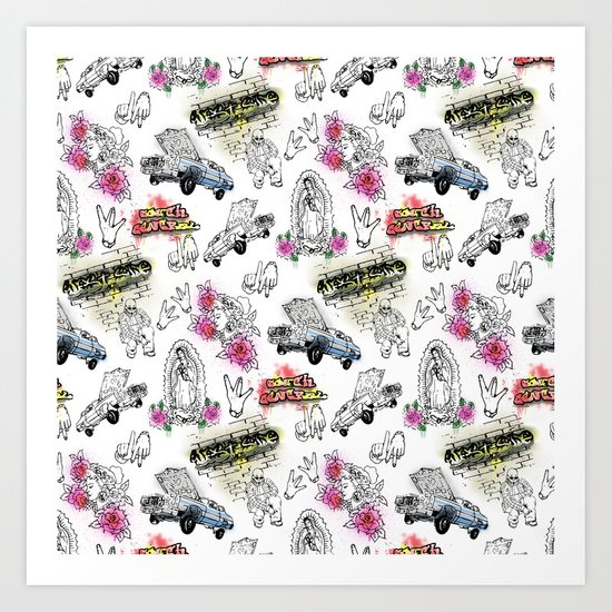 South Central Pattern Art Print