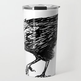 CROW EATING A CANDY BAR Travel Mug