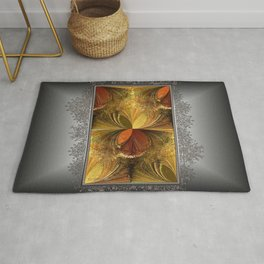 Fall Colours Abstract Rug