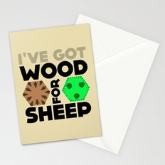 Wood for Sheep (Catan series) Stationery Cards