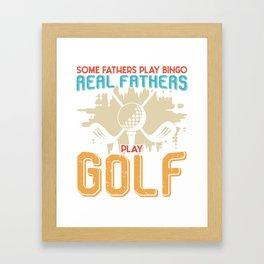 Father Golf Bingo Golf Course Papa gift Framed Art Print