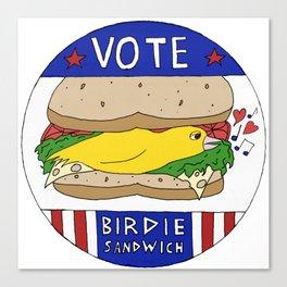 Birdie Sandwich Canvas Print