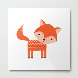 Woodland Fox Metal Print