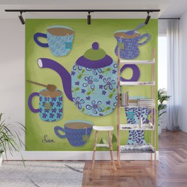 Tea Time Wall Mural
