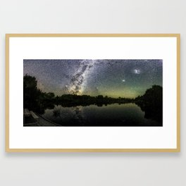 Henry Lake New Zealand Under Southern Hemisphere Skies By Olena Art Framed Art Print