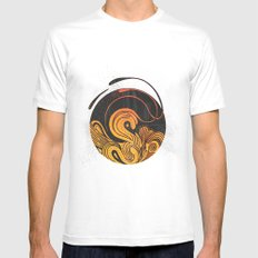 Bloom MEDIUM White Mens Fitted Tee