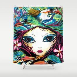 The Little Kingfisher Shower Curtain