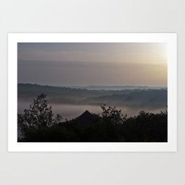 Foggy Summer Morning in France Art Print