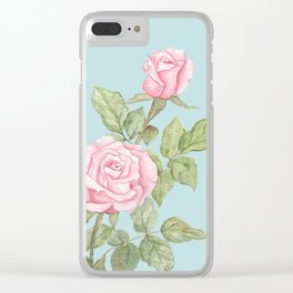 Garden Roses in Bloom Clear iPhone Case