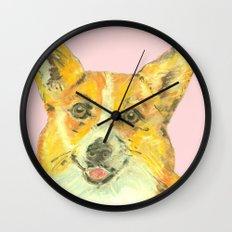 Corgi, printed from an original painting by Jiri Bures Wall Clock