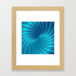 Blue Spiral Vortex G213 Framed Art Print