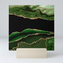 Emerald Marble Glamour Landscapes Mini Art Print
