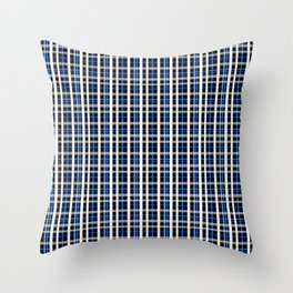 The checkered pattern . Throw Pillow