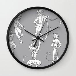 Chat Noir - Model Sheet Wall Clock