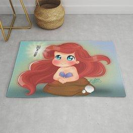 Ariel Little Mermaid Chibi Rug