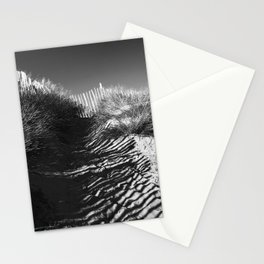Fencing On The Beach Stationery Cards