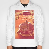telephone Hoodies featuring old telephone by gzm_guvenc