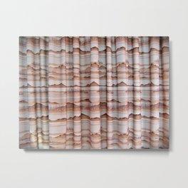 Western Curtains  Metal Print