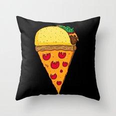 Taco Pizza Cone Throw Pillow