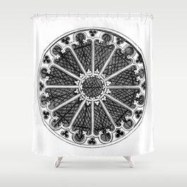 Rose window Shower Curtain
