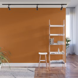Autumn Maple | Pantone Fashion Color | Fall : Winter 2017 | New York | Solid Colour Wall Mural
