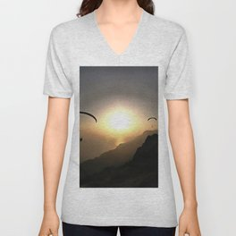 Paragliders Flying Without Wings Unisex V-Neck