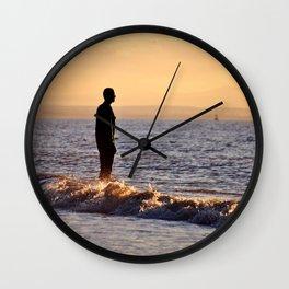 Iron Men of the Sea Wall Clock