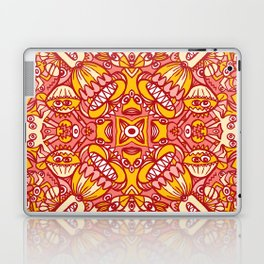 Red and yellow pattern design full of weird fantastic creatures Laptop & iPad Skin