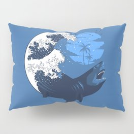 Wave megalodon Pillow Sham