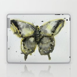 Yellow and Gray Butterfly Laptop & iPad Skin