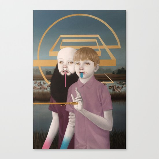 """""""Allegory of Two Nonconsecutive Brothers"""" Canvas Print"""