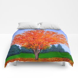 Fall tree in ND Comforters