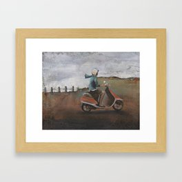 She Rode Along Framed Art Print