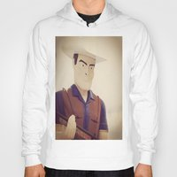 cowboy Hoodies featuring Cowboy by Natasha N. Walker