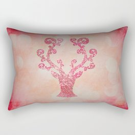 Pink sparkling glitter deer - Sparkle Effect Rectangular Pillow
