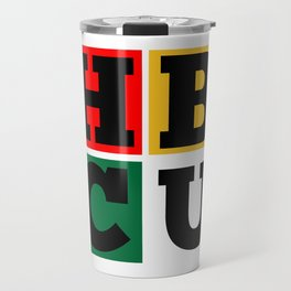 HBCU Block Letters Grad Travel Mug