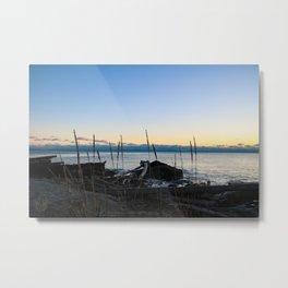 driftwood sunset Metal Print