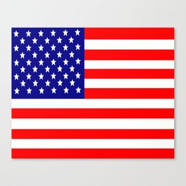 Flag of the USA United States Canvas Print