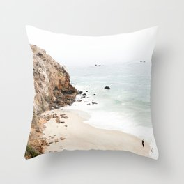 Malibu California Beach Throw Pillow