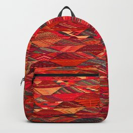 V35 Red Traditional Moroccan Artwork Pattern Backpack